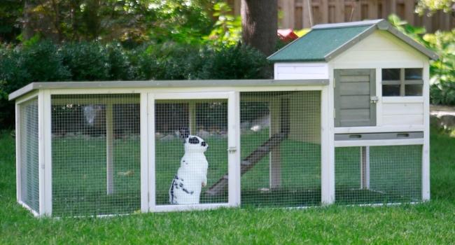 Деревянный домик для кролика